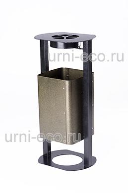 Урна ЭКО-РОБОТ с пепельницей АНТИЧНОЕ ЗОЛОТО объем 30л