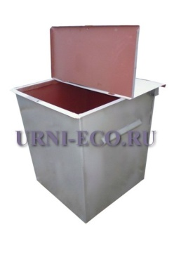 Контейнер ТБО с крышкой объем 750л толщина металла 1,5мм