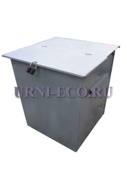 Контейнер ТБО с крышкой объем 750л толщина металла 2мм